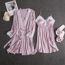 Load image into Gallery viewer, Nightwear Lingerie Robe Set - SWANBOUTIQ