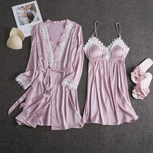 Nightwear Lingerie Robe Set - SWANBOUTIQ