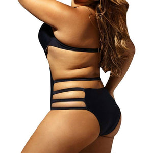 Plus Size One Piece Swimsuit - SWANBOUTIQ