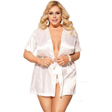 Load image into Gallery viewer, Plus Size Robe Sleepwear - SWANBOUTIQ