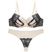 Load image into Gallery viewer, Push Up Lace Bra & Brief Set - SWANBOUTIQ