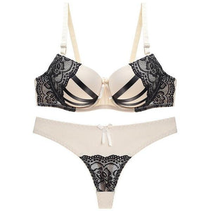 Push Up Lace Bra & Brief Set - SWANBOUTIQ