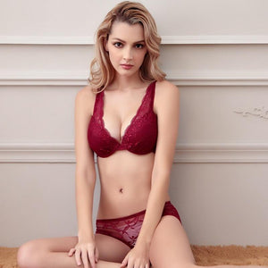 Lace Bra & Brief Set - SWANBOUTIQ