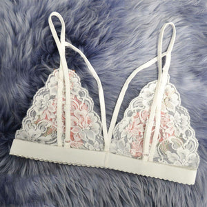 Sexy Embroidered Flowers Lingerie Bra - SWANBOUTIQ