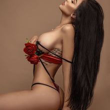 Load image into Gallery viewer, Sexy Red Lace Bra & Brief Set - SWANBOUTIQ