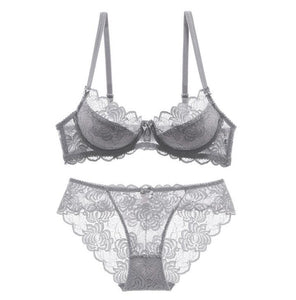 Sexy Ultrathin Transparent Bra Lingerie Sets - SWANBOUTIQ