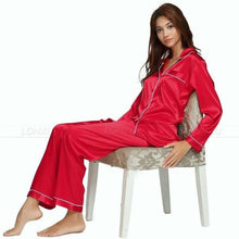 Load image into Gallery viewer, Grey Silk Satin Pajamas - SWANBOUTIQ