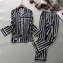 Load image into Gallery viewer, Black Stripe Pyjamas Set - SWANBOUTIQ
