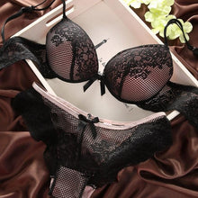 Load image into Gallery viewer, Vintage Push Up Bra & Brief Sets - SWANBOUTIQ