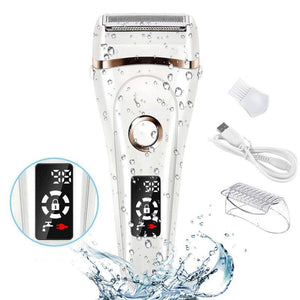 Waterproof Rechargeable Multi-Function Electric Epilator with LCD Display - SWANBOUTIQ