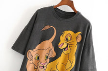 Load image into Gallery viewer, Women T Shirt Fashion Cartoon Lion king Print - SWANBOUTIQ
