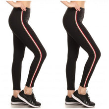 Load image into Gallery viewer, Women's Cotton Blend Active Side Stripe Leggings - 2 Pack - SWANBOUTIQ