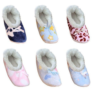 Women's Cozy Sherpa House Slipper Socks With Anti-Skid Grippers - SWANBOUTIQ