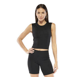Women's Electric Yoga Cropped Top with Built in Padding - SWANBOUTIQ