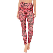 Load image into Gallery viewer, Women's Electric Yoga Red Leopard Print Sports Bra and Leggings - SWANBOUTIQ