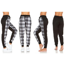 Load image into Gallery viewer, Women's Plaid Jogger Pants With Pockets - SWANBOUTIQ