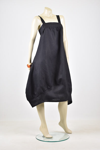 Tzusk gather linen dress