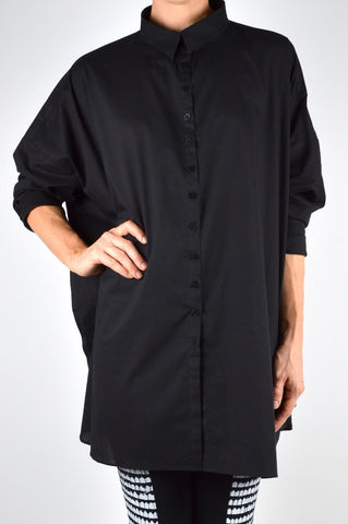 tzusk . voile shirt in black