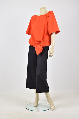 Tzusk paper tie top in orange