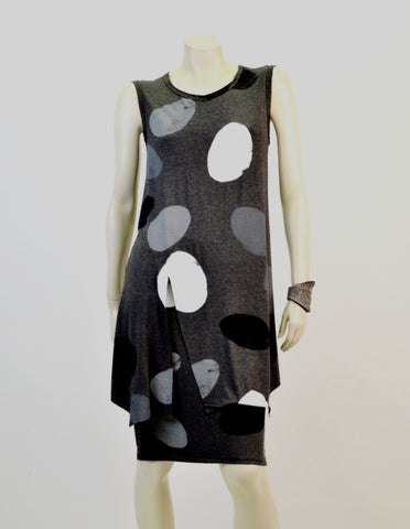Ovals split top in charcoal