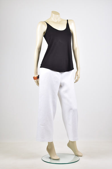 Tzusk 3/4 linen pants in White