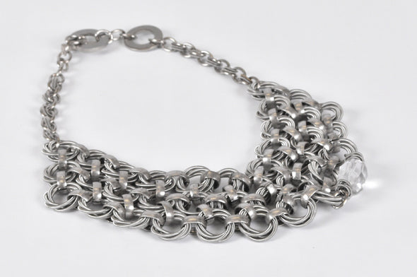 Monica Trevisi T2 washer/ silver necklace