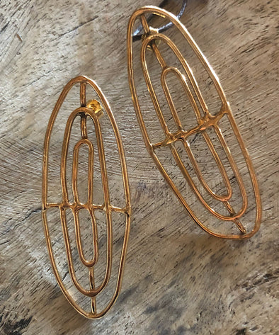 Miriam Nori Iron Ovals earrings