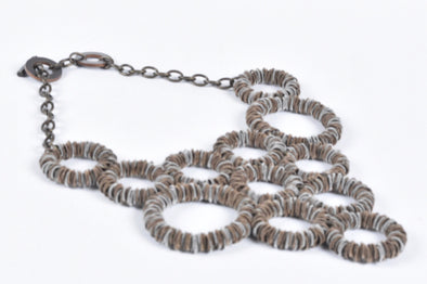 Monica Trevisi multi coil necklace brass mix