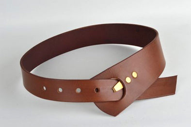 birj . oculus wide tan belt