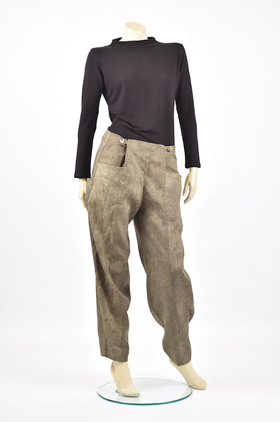 Tzusk linen button pants