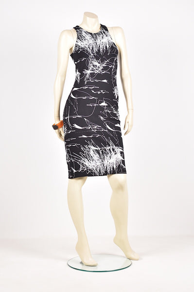 Tzusk cutaway scribble dress
