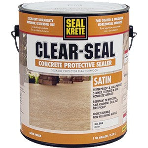 SEAL-KRETE 604001 1G Clear Seal Premium Satin Sealer 98.2 VOC