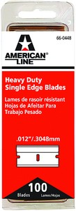 ASR 66-0448 .012 HD Single Edge Razor Blade 100Pk