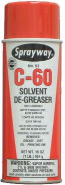 Sprayway 063 C-60 16 oz. 16 oz. Net Solvent Cleaner Degreaser