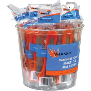 Warner 10798 18mm 8Pt Snap Off Knife w/ 1 Blade Bucket 25Pk