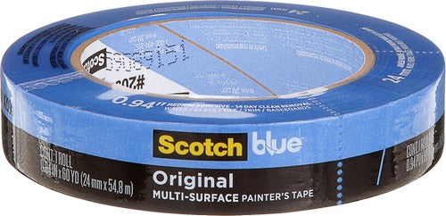 3M 2090-24A 24mm x 55m Blue Multi Surface Masking Tape (36 PACK)
