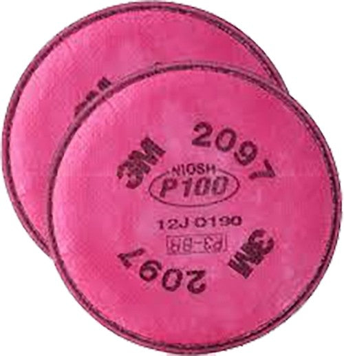 3M 2097 / 07184 (AAD), P100 Particulate Filter with Nuisance Level Organic Vapor Relief