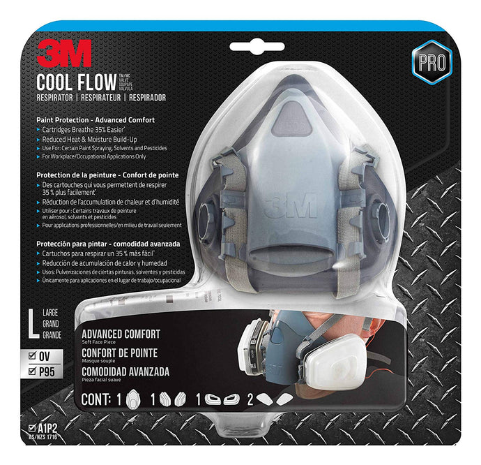 3M 7513PA1-A-PS (R-7513ES) Large Professional Series Respirator