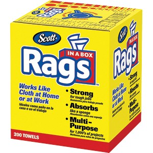 Scott 75260 White Rags In A Box 200 Sheets