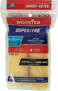 "Wooster RR300 4-1/2"" Jumbo-Koter Super/Fab 3/8"" Nap Mini Roller Cover (2 PACK)"
