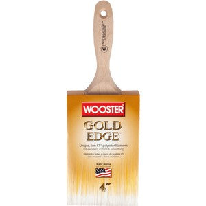 "Wooster 5237 4"" Gold Edge Wall Brush"