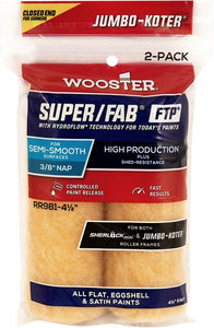 "Wooster RR981 4 1/2"" X 3/8"" Super/Fab FTP Closed-End Jumbo-Koter 2-Pack"