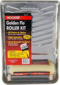 "Wooster R914 9"" Golden Flo Flat Paints Roller Kit"