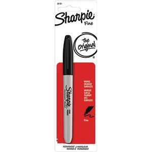 Sanford 30101-PP Black Sharpie Fine Marker (6 PACK)