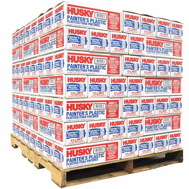 HUSKY 03509H 9' x 400' .31mil High Density Painters Plastic (PALLET)