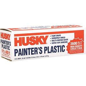 Husky 03509H 9' x 400' .31mil High Density Painters Plastic Poly-America