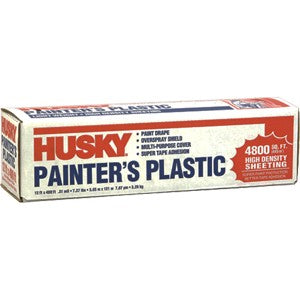Husky 03512H 12' x 400' .31mil High Density Painters Poly Film