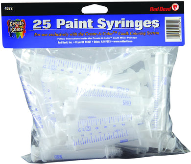 Red Devil 4072 Create-A-Color Syringe (25 PACK)