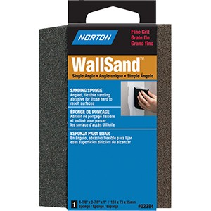 "Norton 02284 4-7/8"" x 2-7/8"" x 1"" Fine Single Angle Wallsand Sponge"