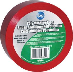 "IPG 43795 2"" x 60Yd Red Poly Masking Stucco Tape"